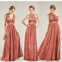 wedding photo - Bridesmaid Dress Velvet Long English Rose Wedding Dress V Neck A-line Convertible Straps Infinity Dress (HV763)