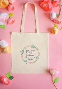 wedding photo - Tote bag, bachelorette party, tote bag personalized tote bag bachelor party girl, bachelorette party, wedding, customizable preparation life tote bag, gift