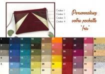 wedding photo - Pouch custom wedding, personalized bag, custom bridesmaid clutch evening bag, Thealouise