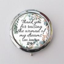 wedding photo - Custom Compact Mirror, Mother Of The Bride Gift, Personalized Gift For Mom