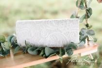 wedding photo - T40 bridal bag clutch bridal bag wedding lace barret bag flower girl bag wedding boho bag ring pillow