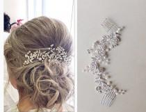 wedding photo - Wedding hair comb, bridal hair comb, bridal headpiece,wedding hair piece, bridal hair piece,bridal hair accessory, crystal hair vine