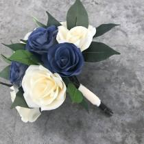 wedding photo -  Bridal bouquet using paper filter flowers - Customizable colors