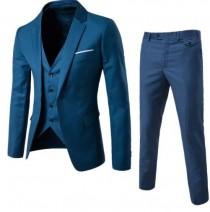 wedding photo - Slim Fit 3 Piece Suit Groom Best Man Groomsman Men's Wedding Prom Custom Suit
