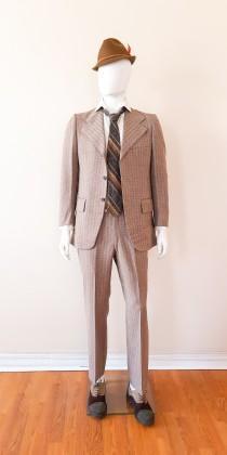 wedding photo - Cardin vintage men's silk suit, 1960s. Rare novelty pattern, mint condition 1960s suit for men size 41