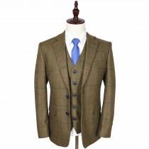 wedding photo - Brown Estate Herringbone Tweed 3 Piece Suit
