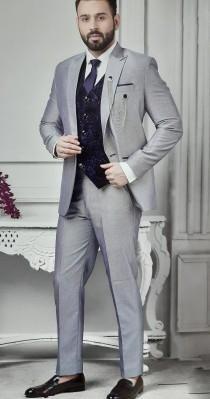 wedding photo - Western Traditional Elegant 5pc Suit Set Indo Western for Men Jodhpuri Blazer, Jacket ,Tuxedo Outfit, Wedding Shirt Pant Vest Tie Coat