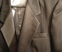 wedding photo - 1970s Christian Dior Black Pinstripe Men's Suit