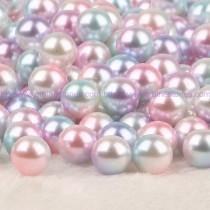 wedding photo - Vase Filler Pearl Bead AB Aurora Borealis Iridescent Color 10mm Round 50pcs no hole plastic