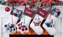 wedding photo - Personalized Christmas Stocking,Christmas Gift,Family Stocking,Dog Stocking,Cat Stocking,Embroidery Christmas Stocking,Personalized Gift