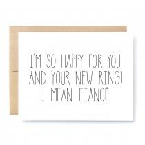 wedding photo - Funny Engagement Card - Engagement Card - New Ring.