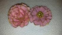 wedding photo - 3 Gum paste flowers: ruffle and carnation flowers/Cake decoration/Edible sugar flowers/wedding, anniversary