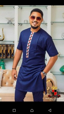 wedding photo - African men's clothing, African fashion, wedding suit, men's African suit, African clothing for men, African men's clothing wedding suit