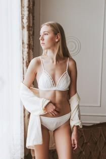 wedding photo - Honeymoon Lingerie With Lace, Sexy Bridal Bra Lingerie