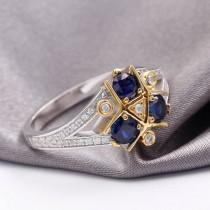 wedding photo - Zora Sapphire Spiritual Stone Engagement Promise Wedding Ring 8 bit Video Game Nerdy Geeky Anniversary Ring Gift Present Cosplay Link Navi