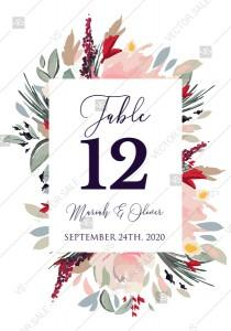 wedding photo - Watercolor wreath garden flower Baby Shower Invitation editable template card PDF 3.5x5 in edit template