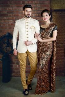 wedding photo - Designer jodhpuri suit,jodhpuri suit for wedding,Cream Colour Jodhpuri Suit