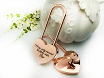 wedding photo - Valentine's Day Gift, Personalized Love Lock,Heart Shaped Love Lock,Custom Engraved Love Lock,Padlock,Engraved Love Lock,Wedding Anniversary