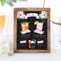 wedding photo - Design Your Own! 150 Drink Images + Garnishes Included, Signature Cocktail Sign Template, Chalkboard Bar Menu Printable, Instant Download
