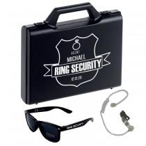 wedding photo - Personalised Ring Security Box - Agent - Ring Bearer - Page Boy - Agent Shield - Wedding Briefcase - Ring Case - Glasses