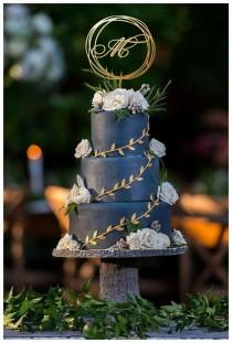 wedding photo - Monogram cake topper, Wedding cake topper,  Single Letter M, Wedding Cake Topper Gold  , Circle cake topper , Personalized Cake Topper