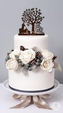 wedding photo - Wedding Cake Topper Mr and Mrs with a Motorcycle  Rustic Cake Topper Bride and Groom Biker Cake Topper Custom Cake Topper Wedding Decor