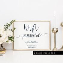 wedding photo - Wifi Password Printable - Wifi Password Printable Template  - PDF Instant Download Digital File - Cardstock or Kraft Paper - 8x10 5x7 - Wifi