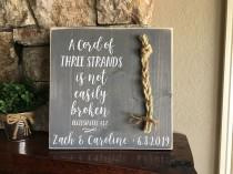 wedding photo - Christian Wedding Gift, A Cord of Three Strands is Not Easily Broken, Personalized Gift for Couple, Anniversary Gift