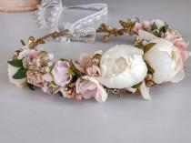 wedding photo - Flower Crown, Baby Flower Crown, Wedding Flower Crown, Flower Girl Crown