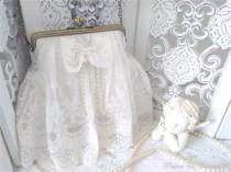 wedding photo - Sac à main en dentelle blanche haute couture, mariage blanc