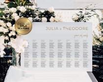 wedding photo - Minimalist Gold Wedding Seating Chart, Customized Digital Download, Printable, Juliette Range #017