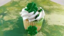 wedding photo - Edible Fondant Four Leaf Clover-Fondant Shamrock-Set of 12-Cake/Cupcake Decorations, Cake Topper, Cloverleaf Cupcake Topper, St. Patrick's