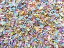 wedding photo - Pastel Rainbow Biodegradable Confetti Baby Shower Wedding Party Decorations Bulk Throwing Table Decor (25 Handfuls)