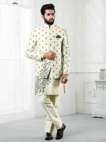 wedding photo - Silk Jodhpuri Suit for Mens Indowestern Suit for Reception jodhpuri for men,mens wedding dress,wedding dresses for men,wedding suit for men