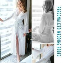 wedding photo - Bride robe, getting ready robe, honeymoon robe, wedding day robe, mrs bride robe, name robe