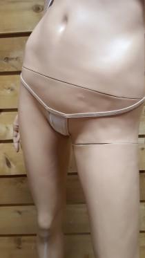 wedding photo - Nude see-through micro thong