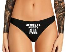 wedding photo - Return To Hubby Full Panties Hotwife Sexy Slutty Funny Cuckold BBC Cumslut Bachelorette Party Bridal Gift Panty Womens Thong Panties