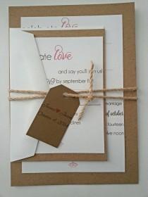 wedding photo - Rustic Wedding Invitation Suite