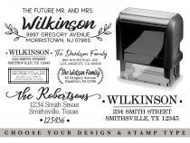 wedding photo - Address Stamp Self Inking - Return Address Stamp - Personalized Rubber Stamper - Stamp for Wedding - Business Stamps Housewarming Gift