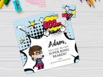 wedding photo - Superhero Funny Ring Bearer Proposal Puzzle Will You Be Our Super Ring Bearer Be Our Page Boy Cute Gift Cartoon Ring Bearer Gift Puzzle