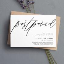 wedding photo - Postponed Wedding Cards, Chang of Plan Cards, Wedding Date Change Cards #123