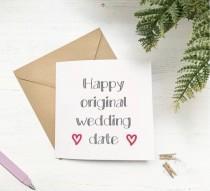 wedding photo - Happy original wedding day, would be wedding day card, wedding cards, card for husband to be, wife to be, lockdown 2020 postponed wedding