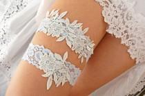 wedding photo - White Blue Lace Wedding Garter Set Belt For Brides, Bridal Garter Blue, Wedding Garter Set White Bridal Gift Burlesque Set Baby Blue Garters