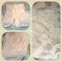 wedding photo - Vintage 1930's / 1940's silk lingerie tap shorts