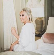 wedding photo - dressing gown, satin robe, bride dressing gown, wedding dressing gown, bridesmaid robe, bride robe, flower girl robe