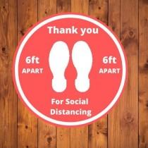 wedding photo - Social Distancing Floor Decal