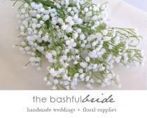 wedding photo - White Baby's Breath, faux Babys Breath, artificial, Baby's Breath flower crown, Baby's Breath Bouquet, Baby's Breath boutonniere
