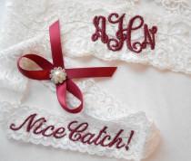wedding photo - MONOGRAMMED Wedding Garter MONOGRAMMED Bridal Garter Floral Stretch Lace Bridal Garter Single Garter