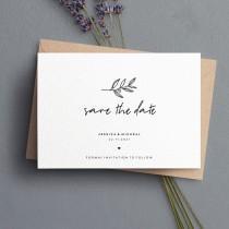 wedding photo - Elegant Script Save the Date Cards, Simple Save The Dates, Postcard Save The Date, Calligraphy Save The Date, Rustic Save the Date #081