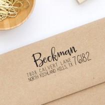 wedding photo - Return Address Stamp, Self-Inking Address Stamp, Personalized Address Stamp - Custom Address Stamp Style No. 121
